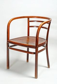 otto wagner, armchair, 1902. beechwood. for thonet, vienna.