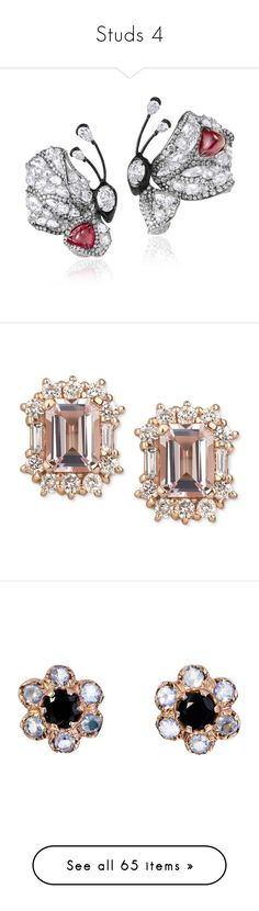 """Studs 4"" by thesassystewart on Polyvore featuring jewelry, red carpet jewelry, star jewelry, earrings, rose gold, 14k stud earrings, yellow gold earrings, gold earrings, 14 karat gold earrings and round diamond earrings"