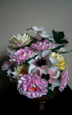 Lovely  - Floral arrangement - Couture  Paper Flower -