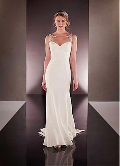 Buy discount Gorgeous Tulle & Stretch Satin Bateau Neckline Natural Waistline Mermaid Wedding Dress With Beaded Lace Appliques at Dressilyme.com