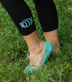 Monogrammed Leggings September 2017