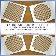 lattice grid cutting files