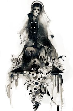 The prophet that will lead the world into chaos before forming a new world in his image. Art And Illustration, Art For Art Sake, Character Design Inspiration, Traditional Art, Dark Art, Cool Artwork, Les Oeuvres, Art Inspo, Art Sketches