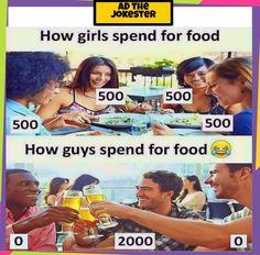 Boys vs girls memes #dankmemes #instamemes #englishmeme #funnymemes #joke Clean Funny Jokes, Funny Minion Memes, Funny Memes Images, Funny True Quotes, Some Funny Jokes, Crazy Funny Memes, Funny Facts, Hilarious, Siblings Funny
