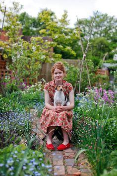 Alys Fowler, gardener who was a presenter on BBC's Gardeners' World.  I find Alys a bit irritating but I love Isobel, her little dog.