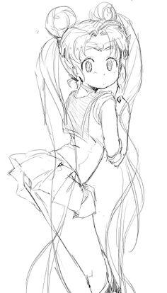 by にょら, Sailor Moon fanart