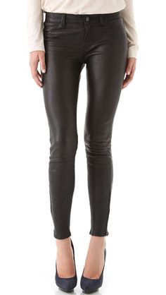 J Brand Super Skinny Leather Pants / Wantering