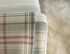 Don't be scared to layer contrasting patterns in pastel tones #interiortrends #fabrics