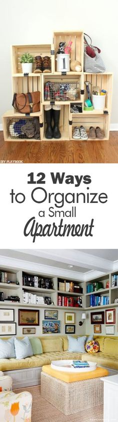 12 Ways to Organize a Small Apartment - 101 Days of Organization