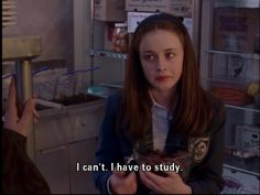 I have to study