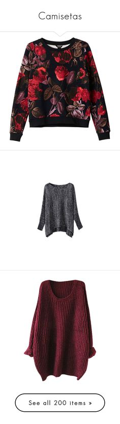 """Camisetas"" by srta-snow ❤ liked on Polyvore featuring tops, hoodies, sweatshirts, sweaters, shirts, monki, patterned shirts, organic cotton shirts, print sweatshirt and patterned sweatshirt"