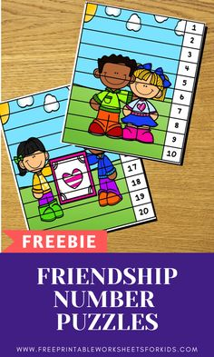 Friendship and Kindness Number Puzzles