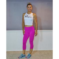 FTLA Apparel eco-HYBRID™ Spandex Jersey Fitted and Cropped Muscle Tank - Vegan Leaf - 47% Lenzing Modal®, 47% combed cotton and 6% spandex