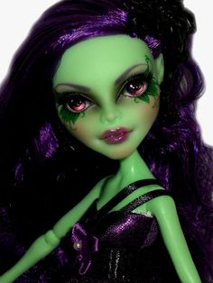 ☠ OOAK custom Monster High doll repaint Amanita Nightshade goth bjd ☠ #MonsterHigh