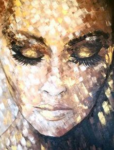 Custom dresses and art couture, Marion Nap Veendam Cobra Art, Or Noir, Abstract Faces, Beauty Art, Drawing People, Canvas Artwork, Portrait Art, Face Art, Painting Inspiration