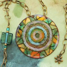 Enamel, Copper, Pendant Necklace, Jewelry, Vitreous Enamel, Jewlery, Jewerly, Schmuck, Enamels