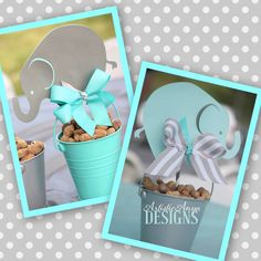 Elephant Centerpiece Toppers Baby Shower or Elephant Birthday by ArtisticAnyaDesigns on Etsy