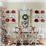 Our Christmas Dining Room and Breakfast Area