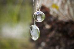 Glass jewelry feather pendants oval LENS pendants by WWHeart