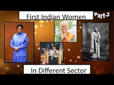 First Indian Women in Different Sectors (Part-2) - YouTube India First, Different, 2 In, Indian, Youtube, Beautiful, Women, Women's, Indian People