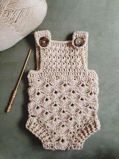 Crochet PATTERN - Baby Romper (sizes 0-3 and 6-12 months) ac6e560de98
