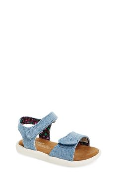 TOMS 'Tiny - Classic' Chambray Sandal (Baby, Walker & Toddler)
