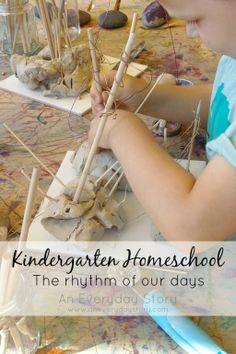 An Everyday Story Kindergarten Homeschool: Our Week. Reggio inspired homeschool.