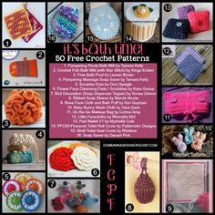 50 Free Crochet Patterns for Bath Time! #FCPF #bath