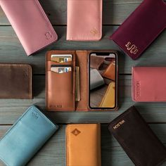 It's an impeccably elegant and the most durable cover for you iPhone. Just let yourself to wrap the phone and cards and cash into the soft leather, live with ease, and maybe even ditch your wallet (at least sometimes). Iphone 7 Plus, Iphone 6, Iphone Wallet, Leather Dog Collars, Leather Wallet, Leather Case, Cadeau Parents, Cowhide Leather, Soft Leather