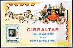Gibraltar 1990 Penny Black Miniature Sheet Fine Mint SG 637 Scott 573 Other Gibraltar Stamps HERE