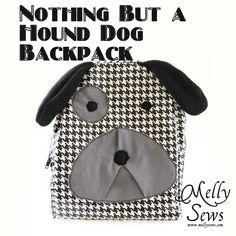 Tutorial: hound dog backpack sewing pattern #free #sewing #bags #kids #diy #crafts