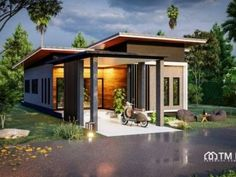 Elegant One Storey House Design - House And Decors Cheap House Plans, House Floor Plans, Small House Design, Modern House Design, Modern Architectural Styles, Bungalow Haus Design, One Storey House, Model House Plan, Cheap Houses