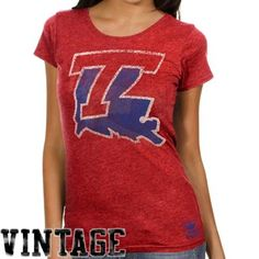 Louisiana Tech Bulldogs Ladies Fan Cap Sleeve T-Shirt
