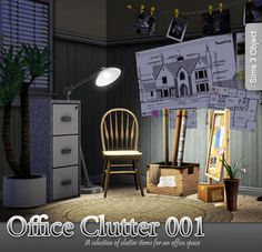 Office Clutter by Apple  http://www.thesimsresource.com/downloads/943328