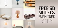 10 Free 3D Models of Furniture Set 2 at 3DExport