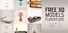 10 Free 3D Models of Furniture Set 2 at 3DExport