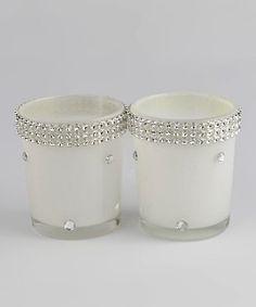 Look at this #zulilyfind! Rhinestone Votive Candleholder - Set of Two #zulilyfinds