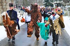 The Shrovetide Procession of Eastern Bohemia Aa School, School Clubs, Yahoo Images, Crane, Goats, Creatures, Animation, Horses, Culture