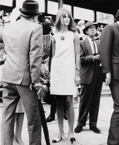 Jean Shrimpton at the 1965 Melbourne Cup