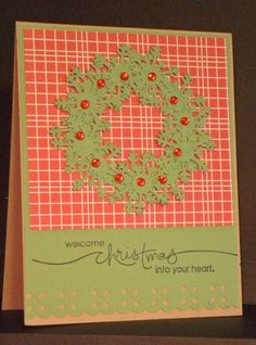 LL's scsccaug13 Heard From the Heart Punch Art Wreath by muzbysmom - Cards and Paper Crafts at Splitcoaststampers
