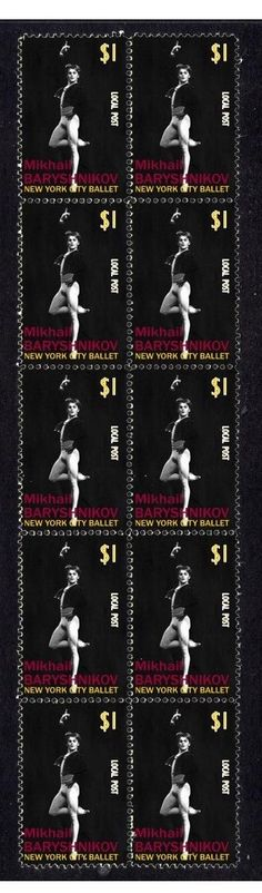 Mikhail Baryshnikov NY Ballet Strip of 10 Mint Stamps