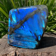 Say hello to your new large Labradorite centerpiece crystal that shines gorgeous blue flash! This beautiful polished specimen stands flat on any table top and will light up your space with colorful vibes.   This Labradorite radiates shades of blue and cobalt blue with hints of gold. Color tones vary depending on the type of lighting used to view the Labradorite's chatoyancy. The back and sides of this piece are primarily grey.  #crystaldecor #homedecor #labradorite #crystals #crystalhealing Sacred Geometry Art, Home Protection, Color Tones, Crystal Decor, Through The Window, Types Of Lighting, Cobalt Blue, Crystal Healing, Shades Of Blue