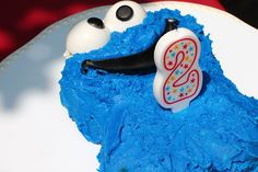 cookie monster Cake for Sesame Street party