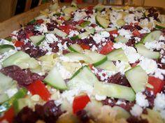 Chic Crafty Chick: Pampered Chef Recipe Review Mediterranean Hummus Pizza