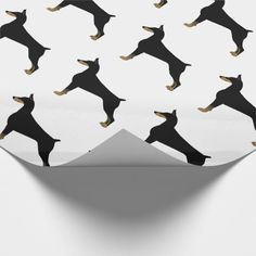 Doberman Pinscher Basic Dog Breed Illustration Wrapping Paper