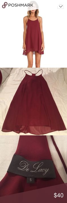 Worn once! Revolve clothing mini dress Oxblood mini shift dress from Revolve Clothing. Only worn once!! Super cute with a leather jacket and booties Revolve Clothing Dresses Mini