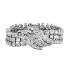 A Very fine Platinum & Diamond Bracelet by #Boucheron. #Jewellery #Jewelry #Diamonds #Bracelet #Luxury  Find out more: http://morelledavidson.com/product/fine-platinum-diamond-bracelet-boucheron/.
