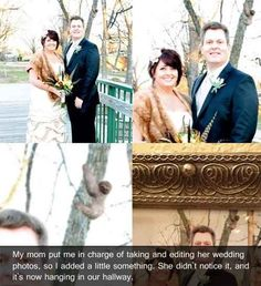 The sneaky wedding troll | 21 Hilarious Photoshop Trolls