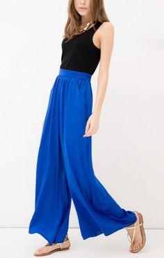 Royal Blue + High Waisted. #trouser #flow #blue