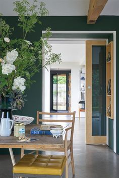 New Season Paint Trends from Farrow & Ball - Mad About The House Studio green Living Room Green, Decor, Trendy Interiors, Best Interior Paint, Green Kitchen Walls, Dark Green Walls, Green Painted Walls, Colorful Interiors, Green Dining Room